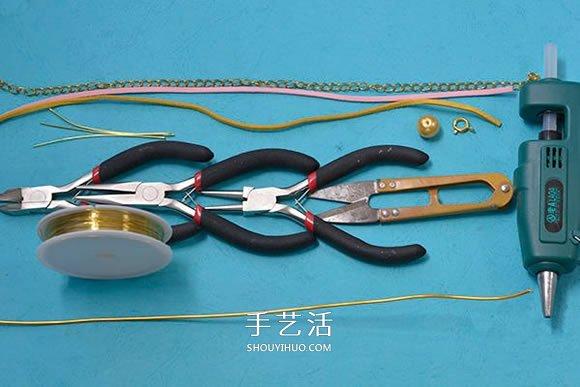 麂皮繩手鏈的編法圖解 雙色皮革編織手鏈教程