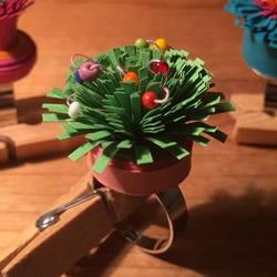手工衍纸花戒指的制作方法 简单又超漂亮!