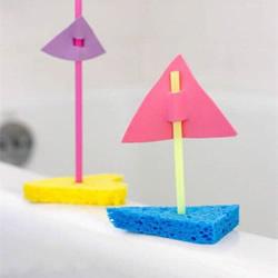 幼儿园手工小船制作 用海绵做玩具船的方法