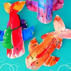 幼儿园用纸盘手工制作小鱼的方法教程