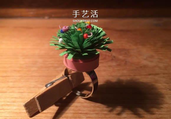 手工衍纸花戒指的制作方法 简单又超漂亮! -  www.shouyihuo.com