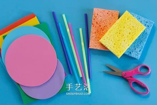 幼儿园手工小船制作 用海绵做玩具船的方法 -  www.shouyihuo.com