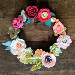 超多毛毡布花的制作方法 DIY美丽的花环头饰