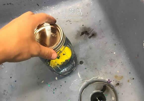玻璃罐廢物利用手工製作裝飾品禮物的方法