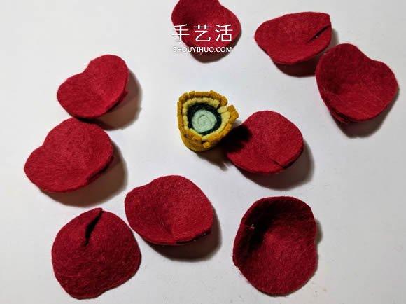超多毛毡布花的制作方法 DIY美丽的花环头饰 -  www.shouyihuo.com