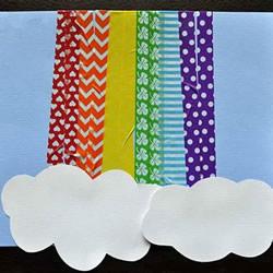 胶带纸贴一下 自制漂亮彩虹卡片超简单!