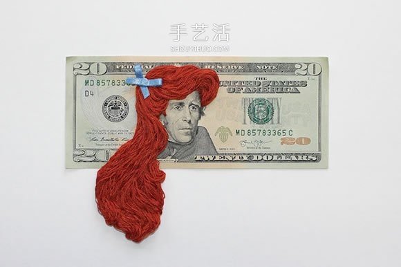 林肯的包包头?给钞票上的人物编织创意长发 -  www.shouyihuo.com