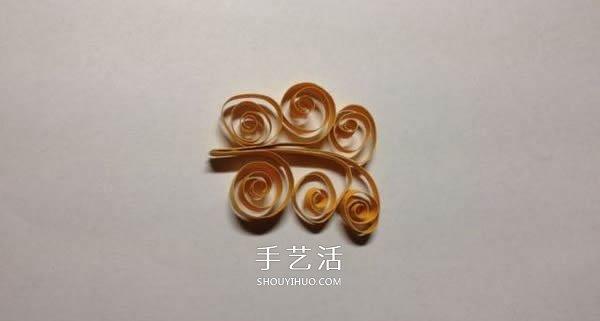 简单衍纸花教程:手工衍纸制作五瓣花图解 -  www.shouyihuo.com