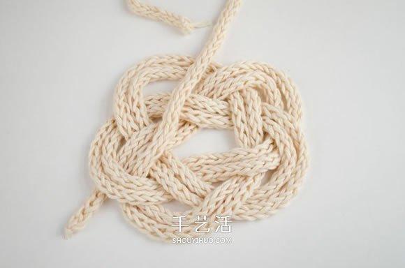毛线绳子编织杯垫图解 就像是美丽的云朵! -  www.shouyihuo.com