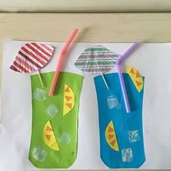 自带解渴功效!幼儿手工冷饮粘贴画的做法