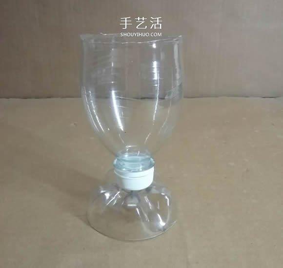 矿泉水瓶废物利用手工制作奖杯、国旗和酒杯 -  www.shouyihuo.com