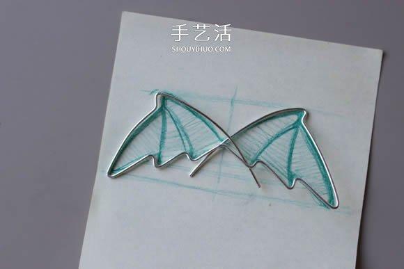 金屬絲DIY製作龍之翼項鏈墜的方法圖解教程