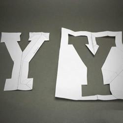 只剪一刀!剪纸字母Y的剪法图解教程