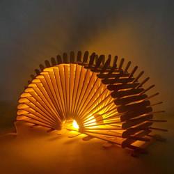 200根雪糕棍手工制作漂亮拱桥灯罩的方法教程