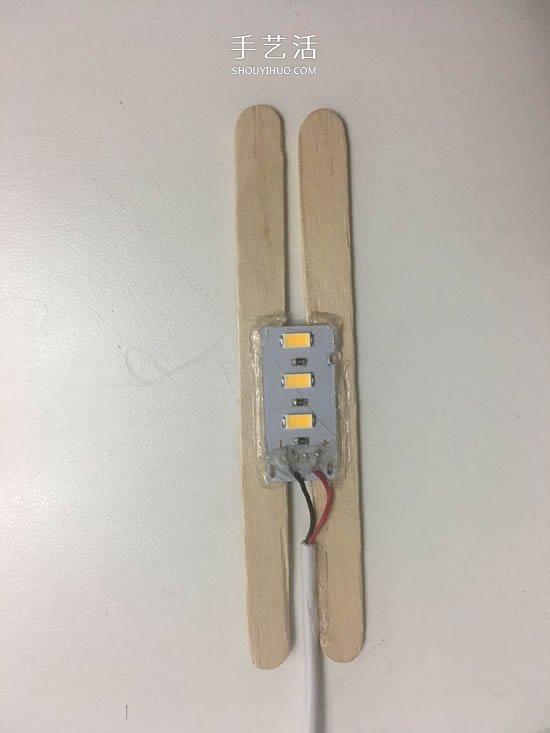 200根雪糕棍手工製作漂亮拱橋燈罩的方法教程