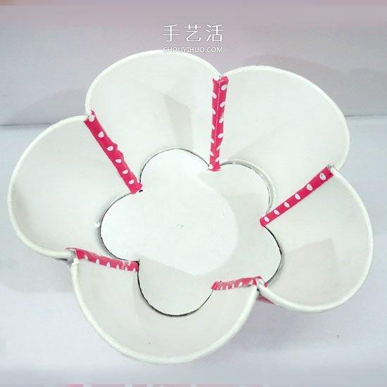 一次性纸杯手工制作漂亮家居饰品的方法 -  www.shouyihuo.com