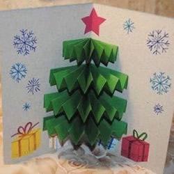 圣诞节立体圣诞树贺卡的制作方法图解教程