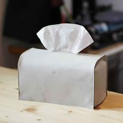 自制简约时尚皮革纸巾盒的手工制作教程