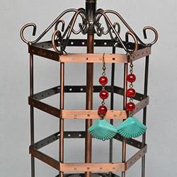 复古风格绿松石贝壳耳环的DIY制作图解教程