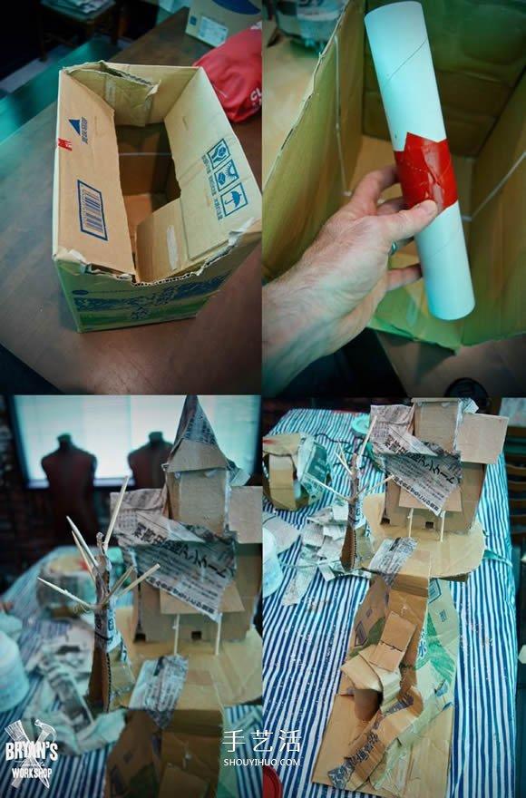 自製萬聖節鬼屋模型的教程 華麗又逼真!