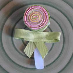 缎带棒棒糖发卡的制作方法 可爱还不用手缝