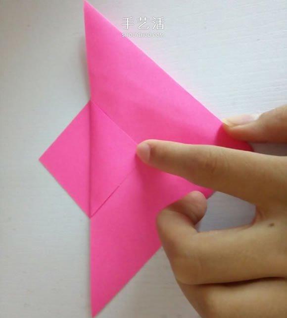 简单又漂亮五瓣纸花的折法步骤图解 -  www.shouyihuo.com