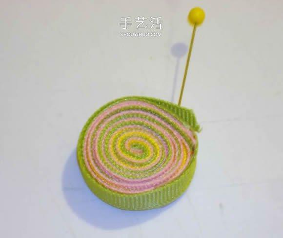 缎带棒棒糖发卡的制作方法 可爱还不用手缝 -  www.shouyihuo.com