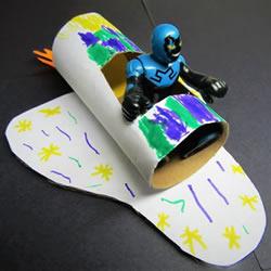 幼儿园手工制作航天飞机的简单做法图解