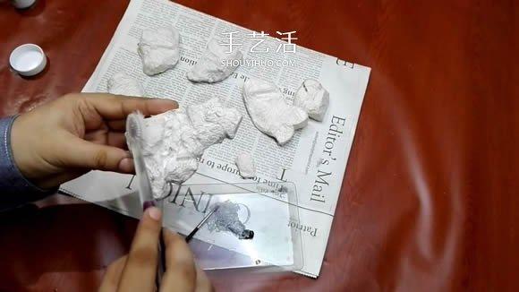 简单自制迷你池塘装饰摆件的制作方法教程 -  www.shouyihuo.com