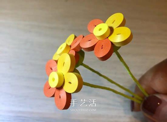 衍纸五瓣花的基础入门手工制作教程 -  www.shouyihuo.com