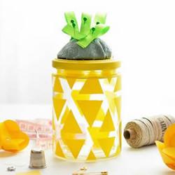 带针插玻璃收纳罐的简单制作方法教程