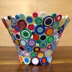 衍纸碗手工制作 精美时尚的装饰摆件!