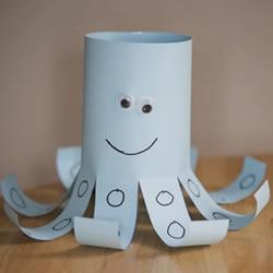 幼儿园手工制作卡纸章鱼的简单方法