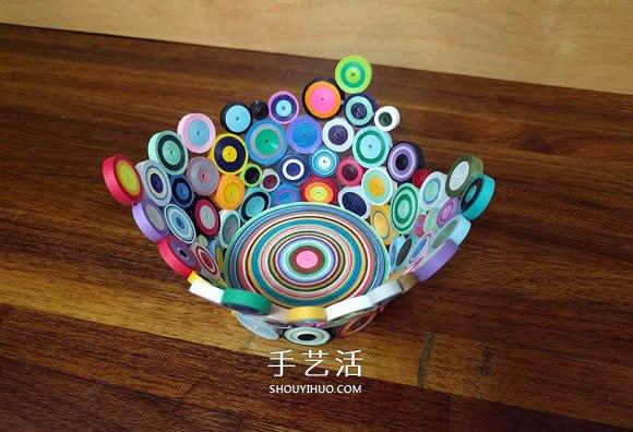 衍纸碗手工制作 精美时尚的装饰摆件! -  www.shouyihuo.com