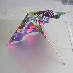 简单纸伞的制作方法图解 可以打开收起!