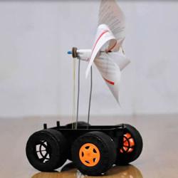 有趣科技小制作:手工风力车玩具DIY教程