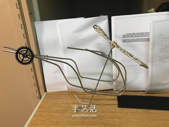 自制好看又好玩铝线直升飞机模型的制作方法 -  www.shouyihuo.com