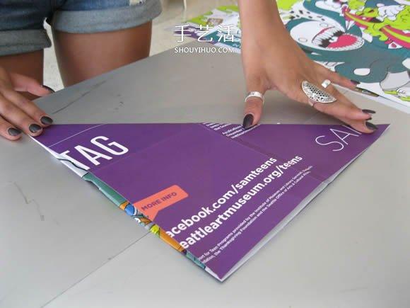 簡單紙傘的製作方法圖解 可以打開收起!