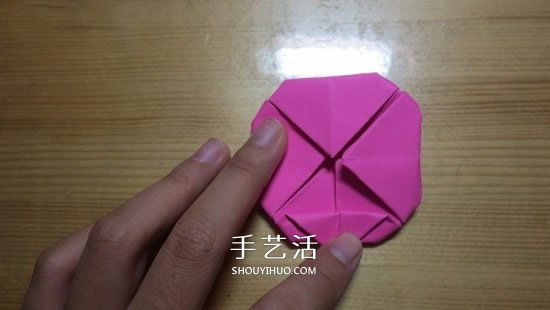 最簡單紙玫瑰花的折法圖解 有點小可愛!
