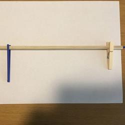 简易橡皮筋枪的做法 可以把橡皮筋发射出去!