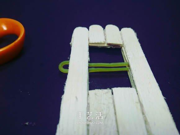 物理小製作:自製冰棍棒橡皮筋動力船的教程