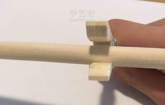 簡易橡皮筋槍的做法 可以把橡皮筋發射出去!