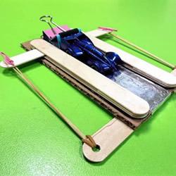好玩的科技小制作:用雪糕棍制作汽车弹射器