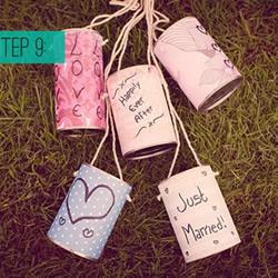 自制婚礼布置用风铃的制作方法 简单又环保!
