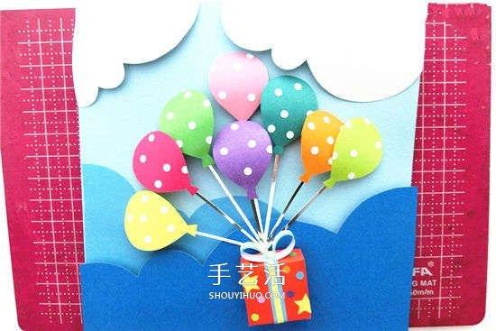幼儿园卡纸中国结_DIY简单又漂亮立体新年贺卡的制作方法_手艺活网