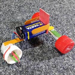 自制电动马达三轮车玩具的科技小制作教程