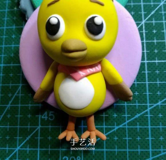 超轻粘土手工制作萌鸡小队麦奇小鸡步骤图 -  www.shouyihuo.com