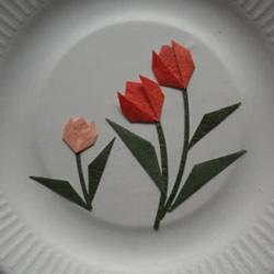 最简单折纸郁金香贴画的制作方法图解