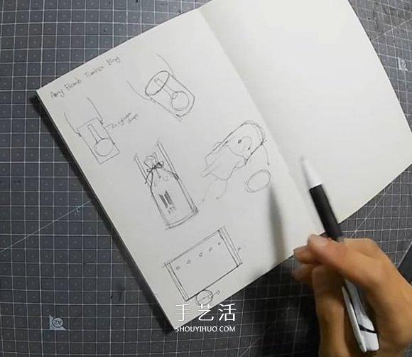 自制迷你皮革水桶包的制作方法详细步骤图 -  www.shouyihuo.com