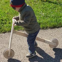 自制木质平衡自行车的制作方法教程